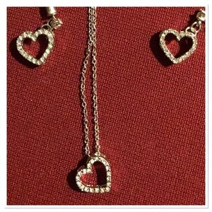 COPY - 💎Diamond Heart Necklace and matching Earri…